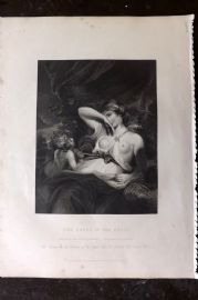 Gems of European Art 1846 Folio Print. The Snake in the Grass. Nude